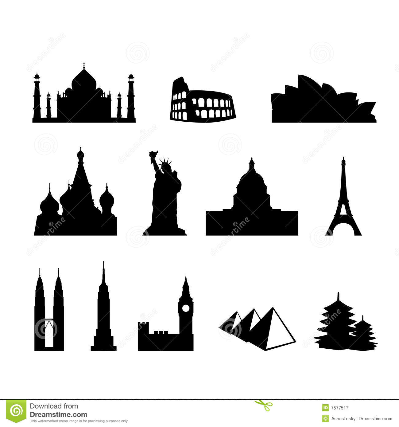 World landmarks and monuments royalty free stock for Monumenti mondiali