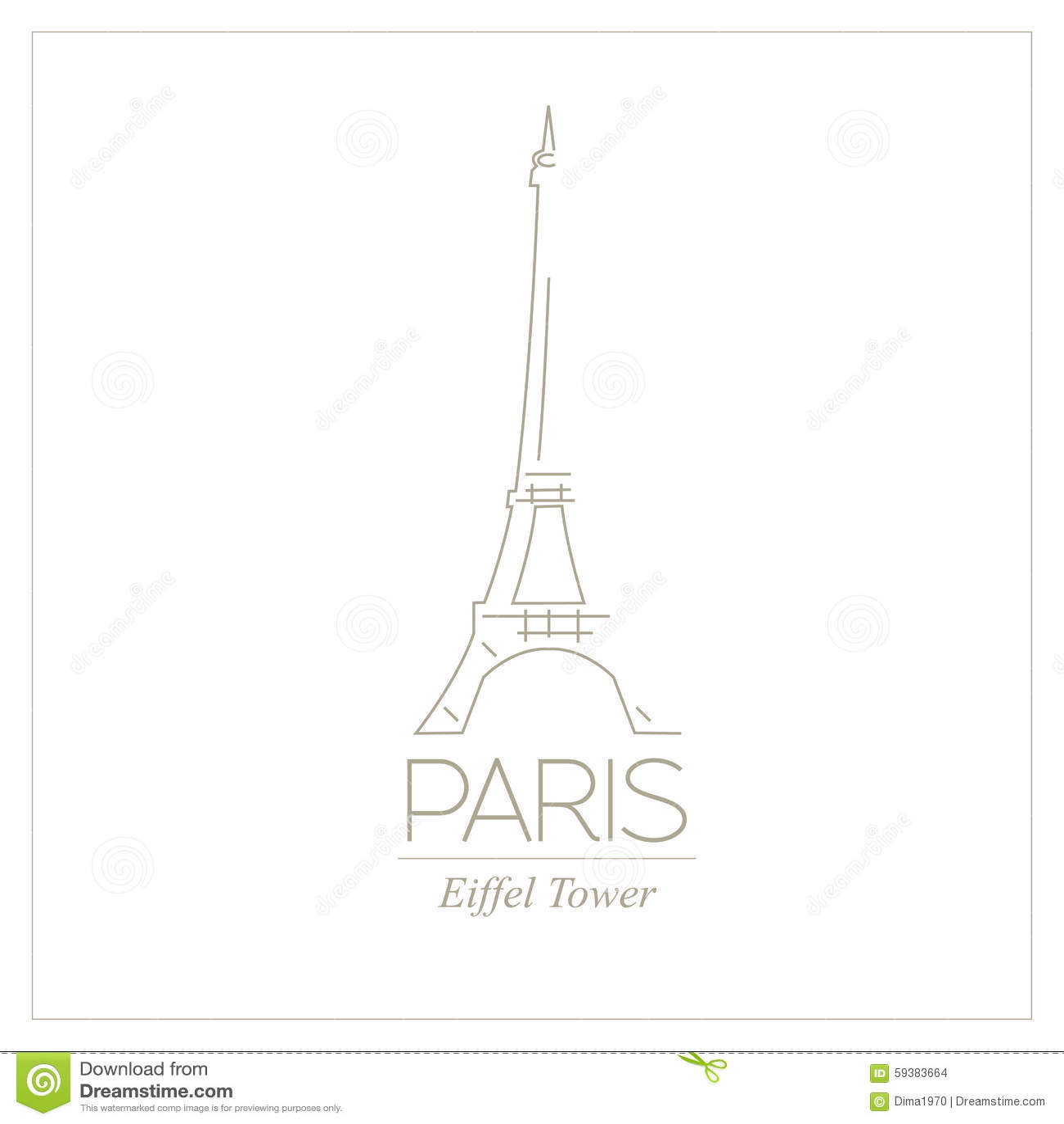 world landmarks paris france eiffel tower graphic template