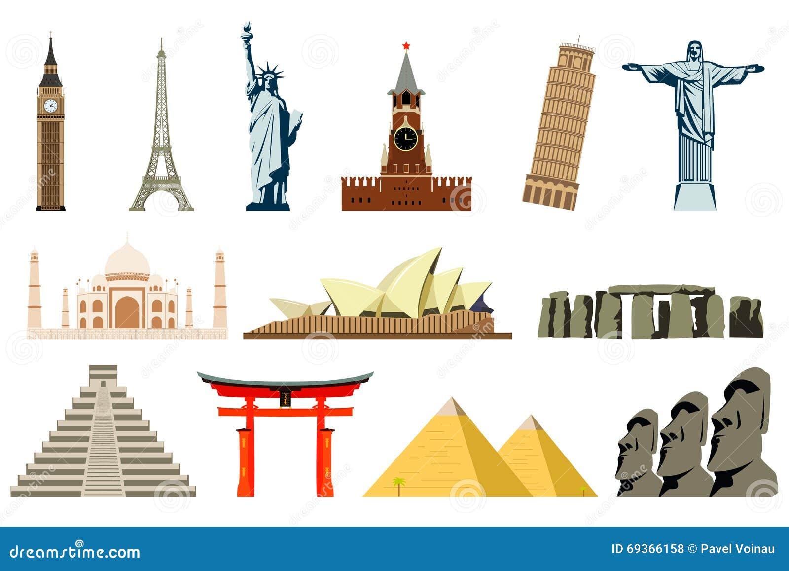 world landmarks vector stock vector image 69366158 parthenon clipart free Greek Clip Art