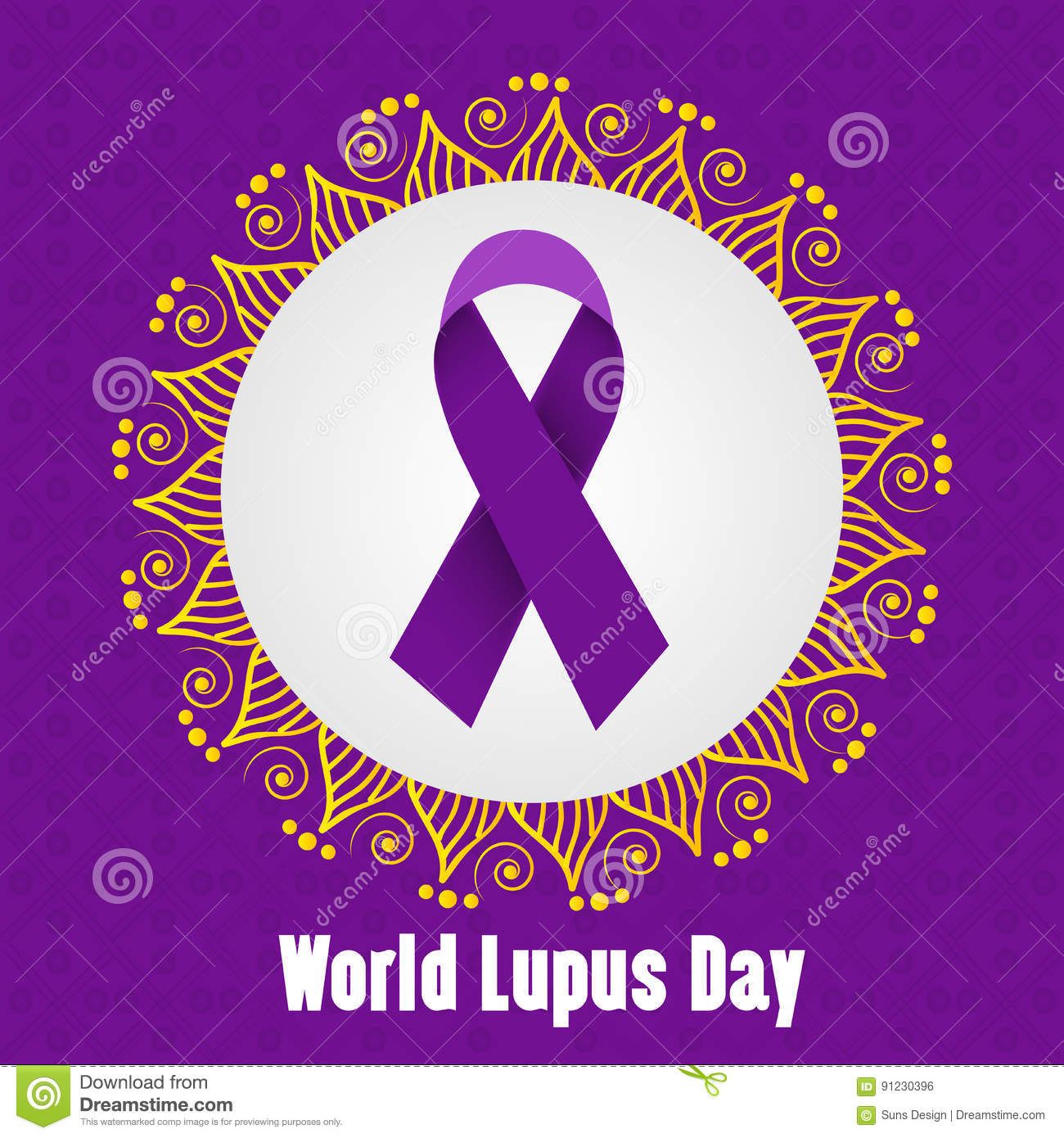 World Lupus Day Stock Illustration Illustration Of Purple 91230396