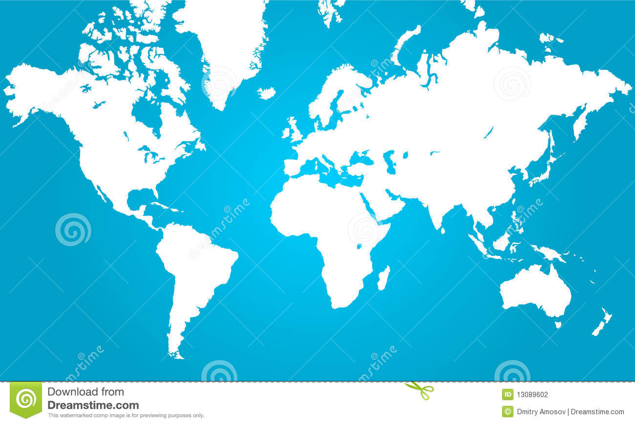 World map stock vector illustration of blank card africa 13089602 clear vector world map white on blue gumiabroncs Choice Image