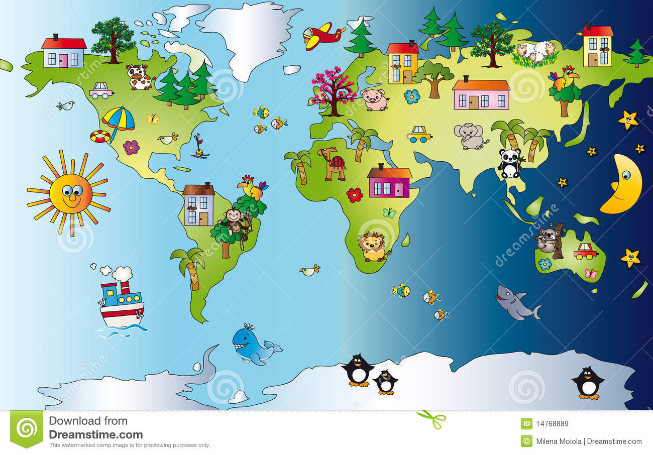 world map stock vector illustration of animal houses 14768889 dreamstime com