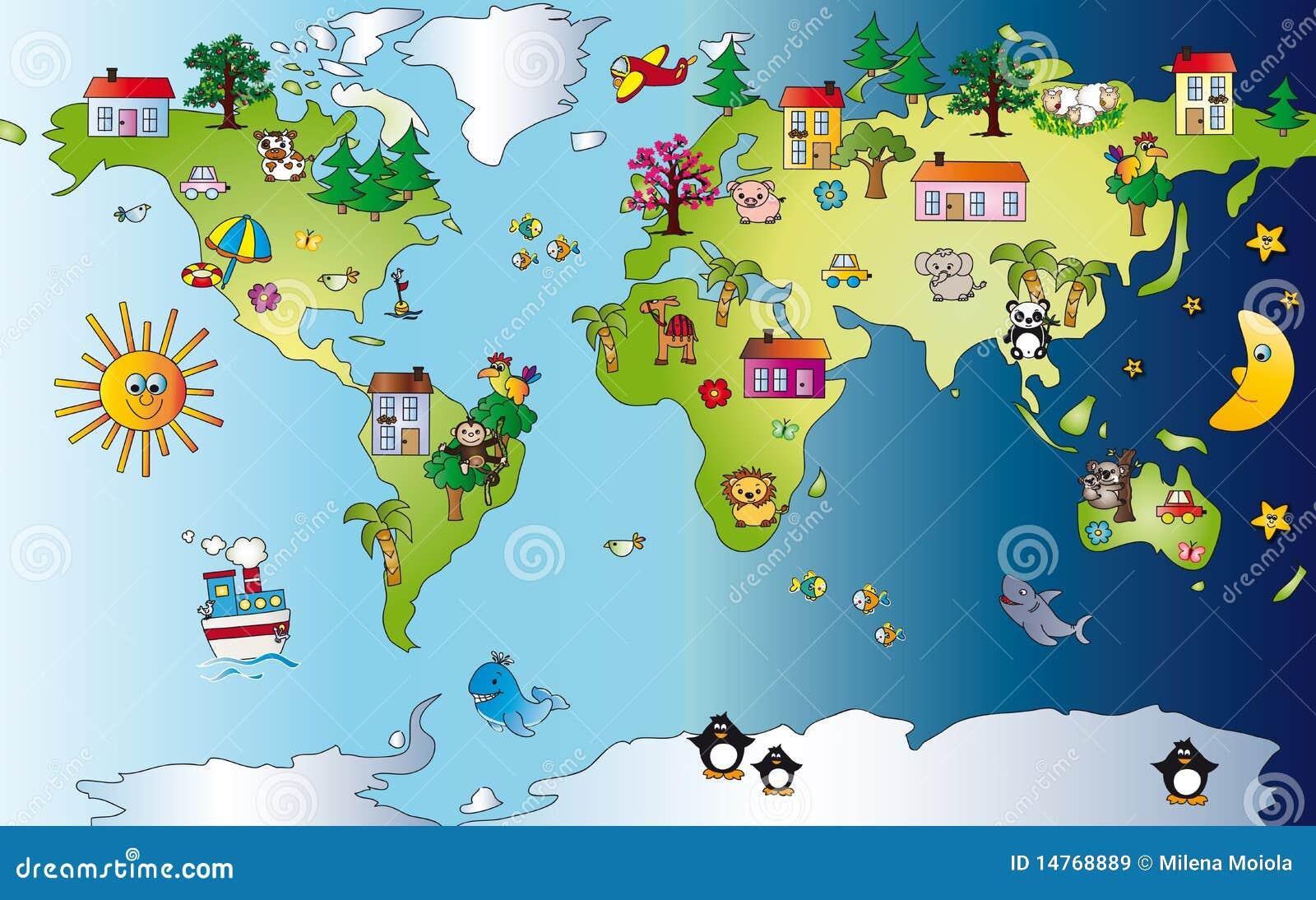 World Map Royalty Free Stock Images Image 14768889