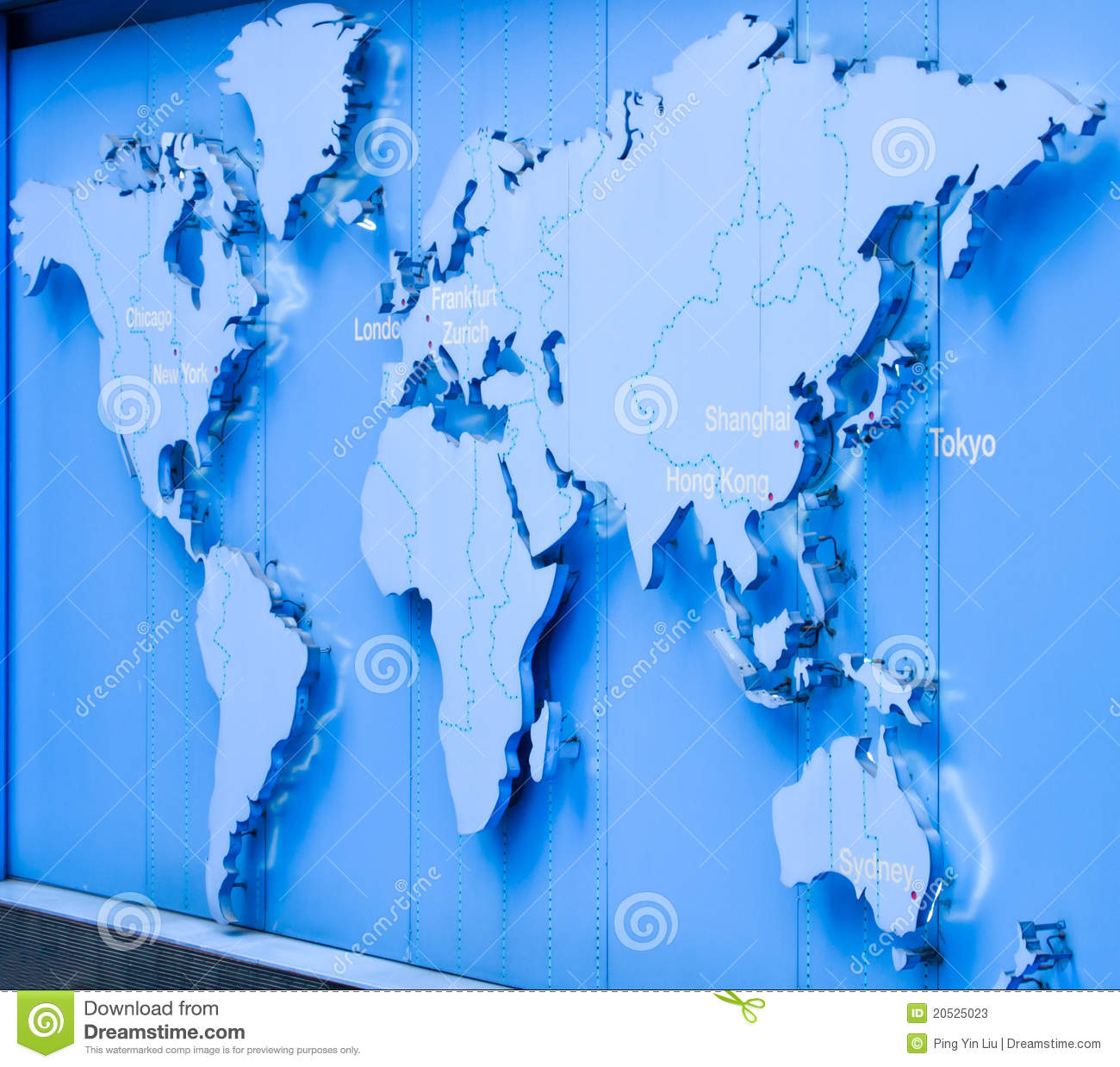 World Map Stock Image Image Of German Chicago China 20525023