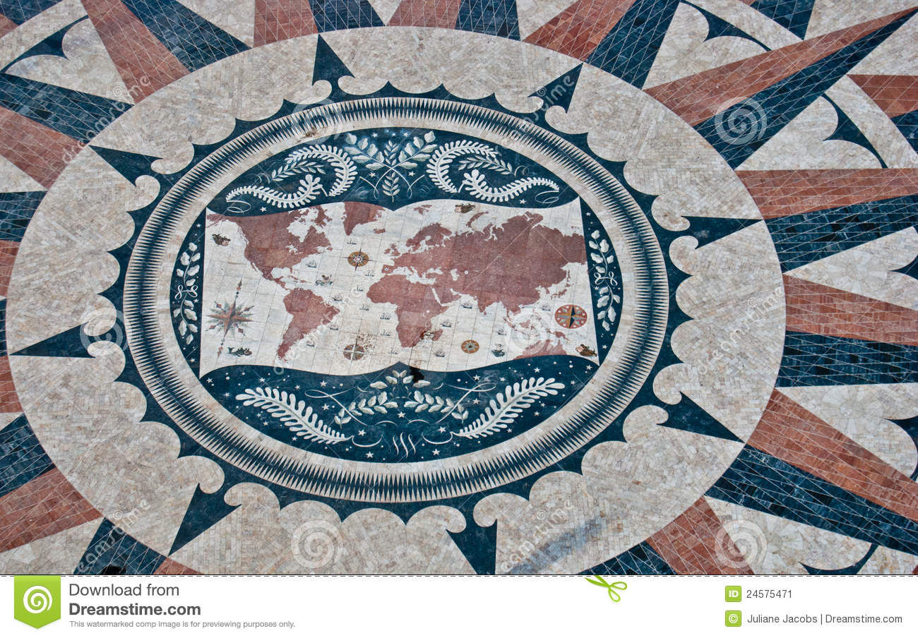 World map stock image image of lisboa paving architecture 24575471 view of the huge world map in lisbon gumiabroncs Choice Image