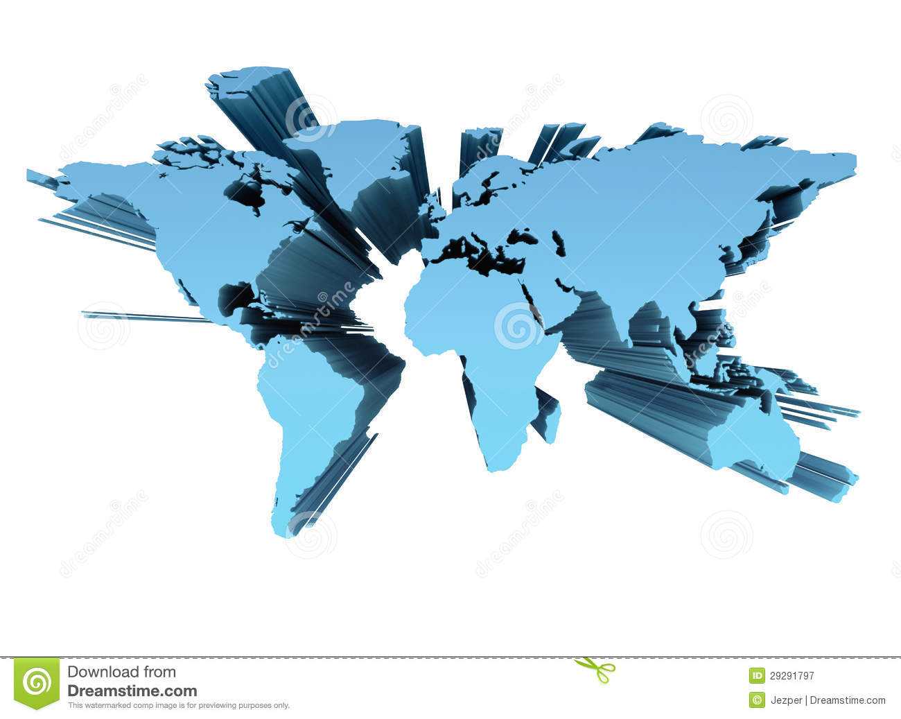 World map 3d stock illustration illustration of blue 29291797 gumiabroncs Choice Image