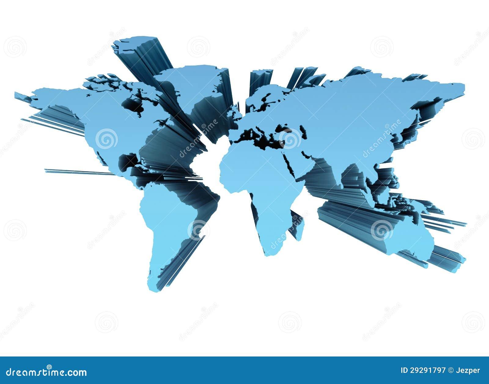 World Map 3d Stock Illustration Illustration Of Scandinavia