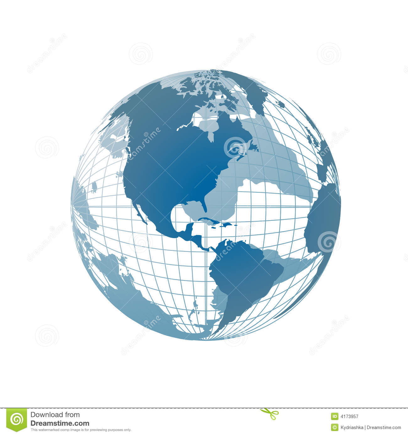 World map 3d globe stock vector illustration of continents 4173957 world map 3d globe gumiabroncs Choice Image