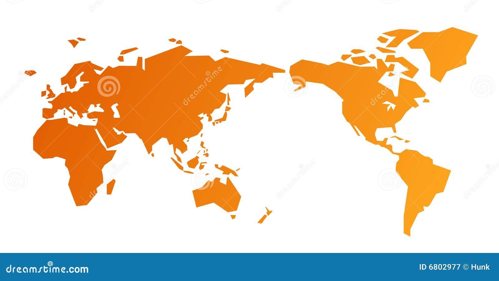 World map stock vector illustration of orange globe 6802977 world map royalty free stock photo gumiabroncs Images