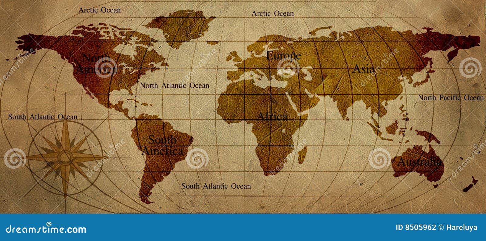 World map stock illustration. Illustration of world, continents