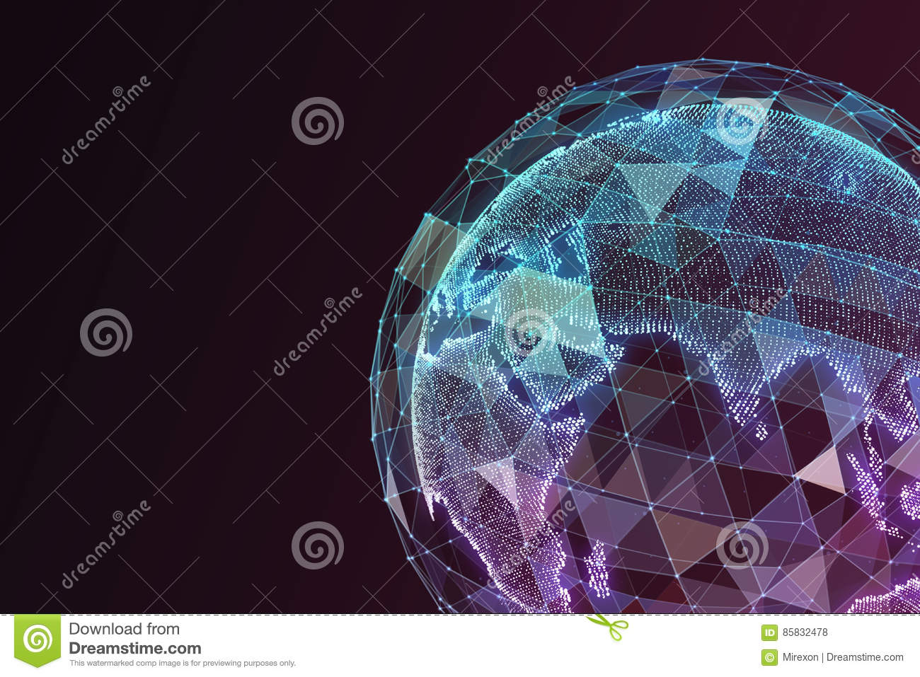 World Map Abstract Concept Stock Illustration Image 85832478