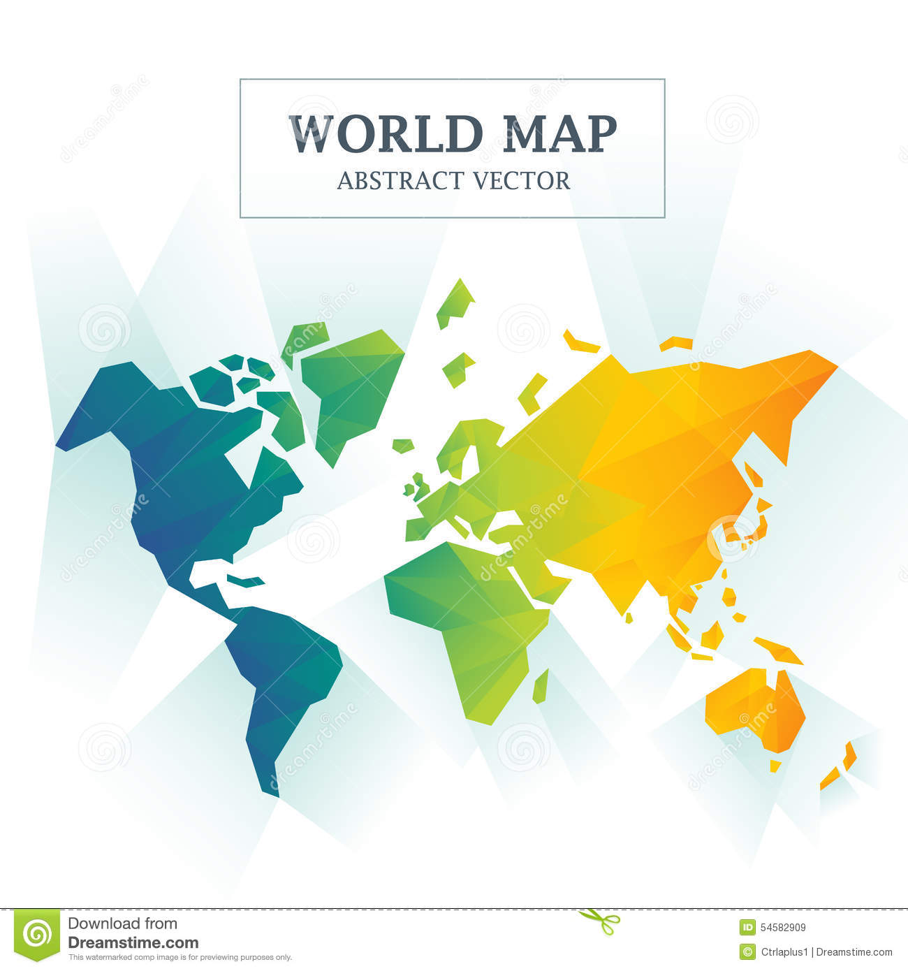 World map with borders between all countries stock vector world map abstract full color royalty free stock images gumiabroncs Images