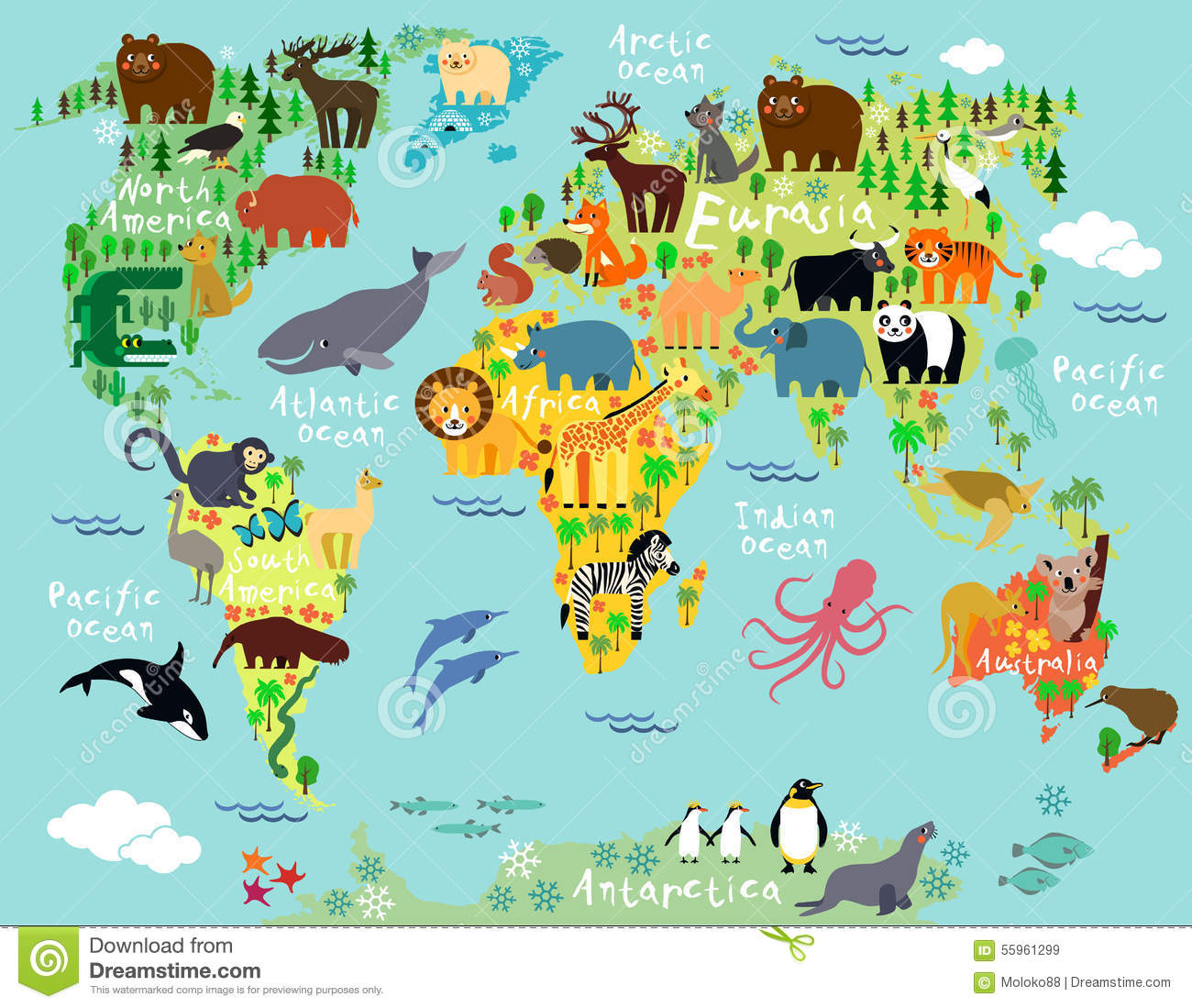 World map stock vector. Illustration of australia, madagascar