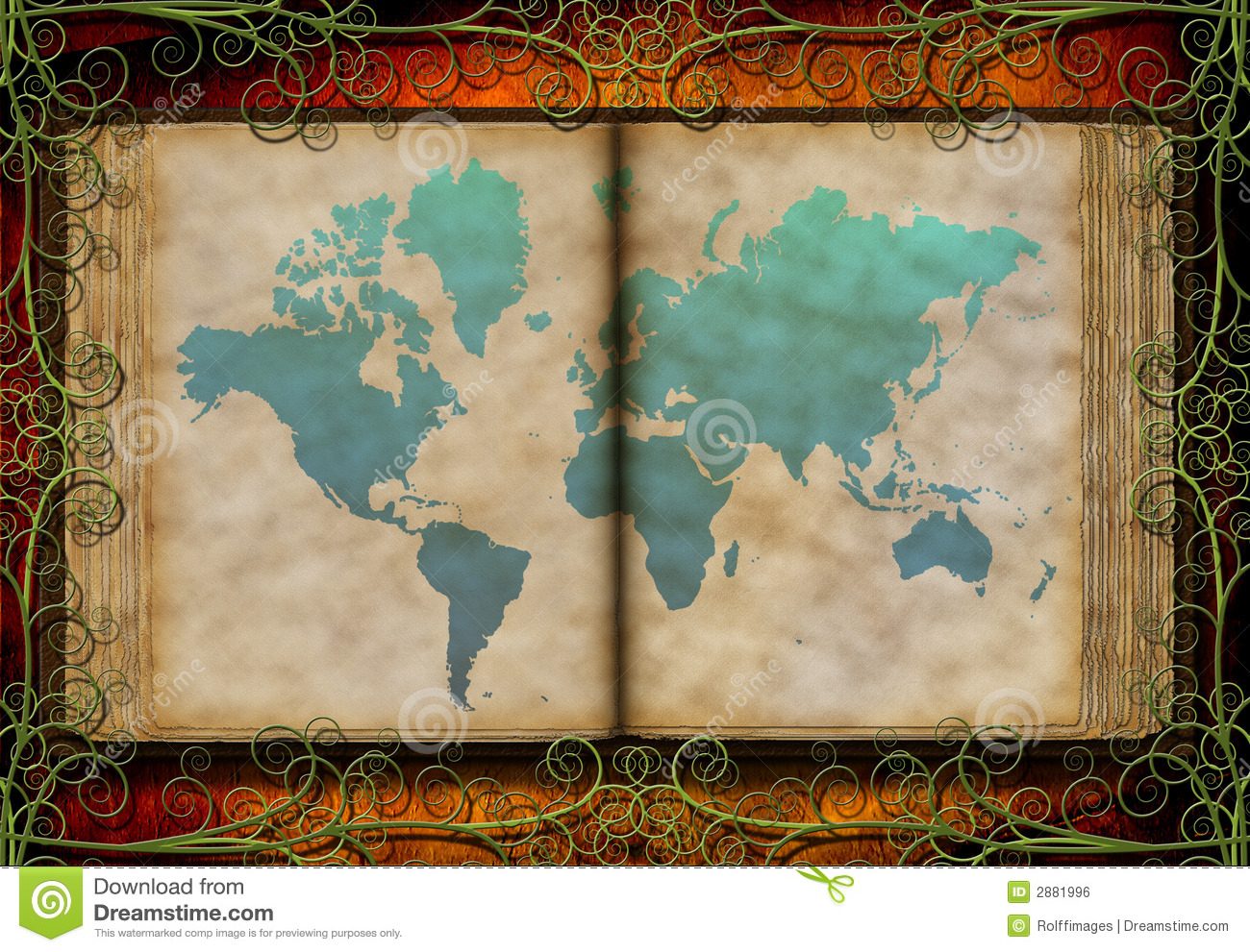 World map on antique book stock illustration illustration of beauty world map on antique book gumiabroncs Image collections