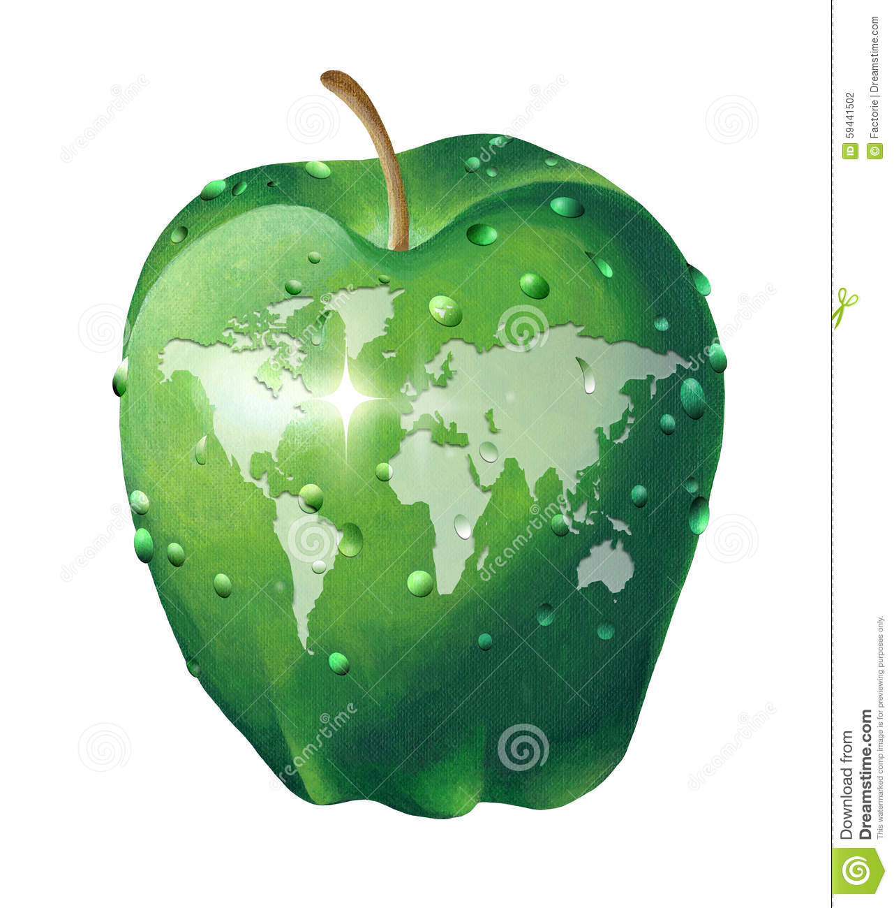 World map on an apple illustration 59441502 megapixl world map on an apple gumiabroncs Images