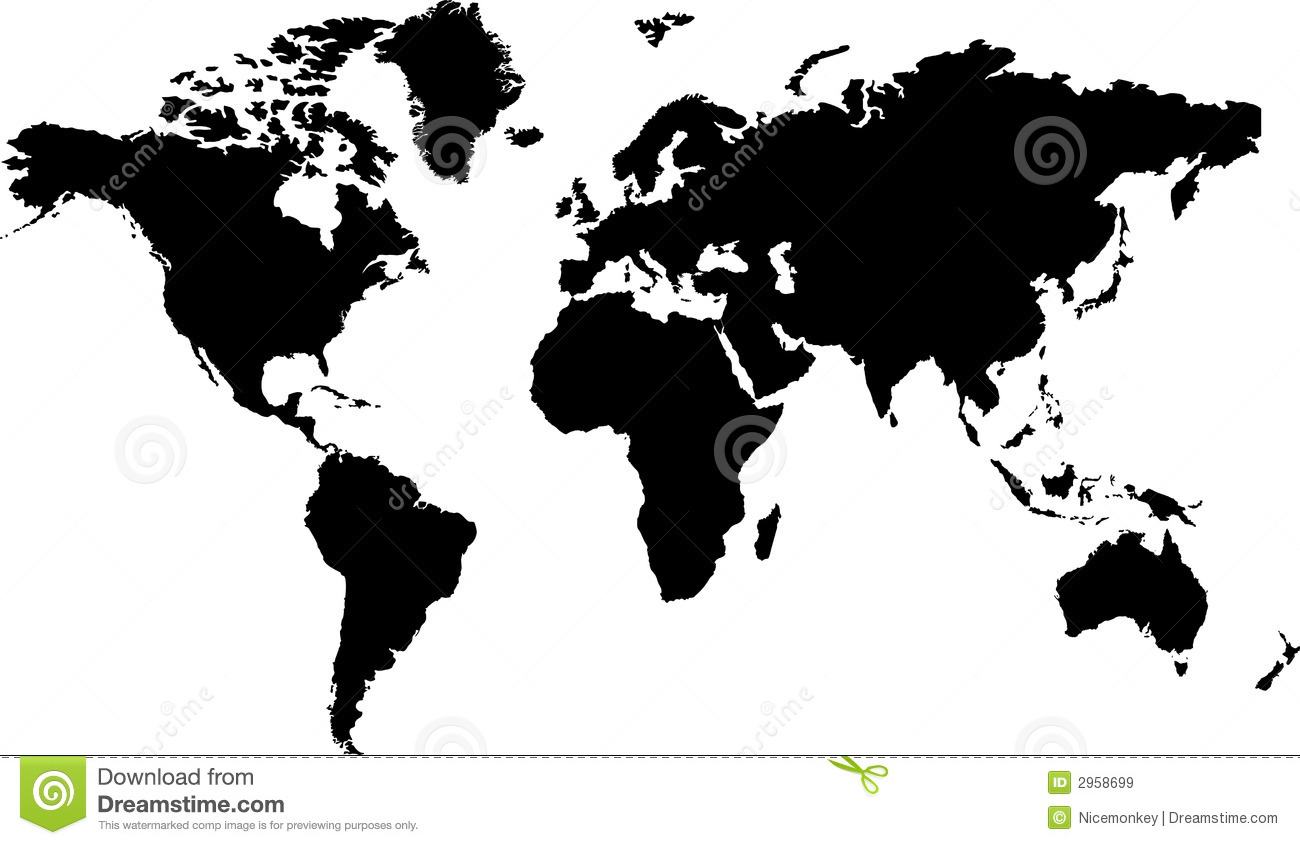 World map black stock vector illustration of country 2958699 world map black royalty free stock photo gumiabroncs Gallery