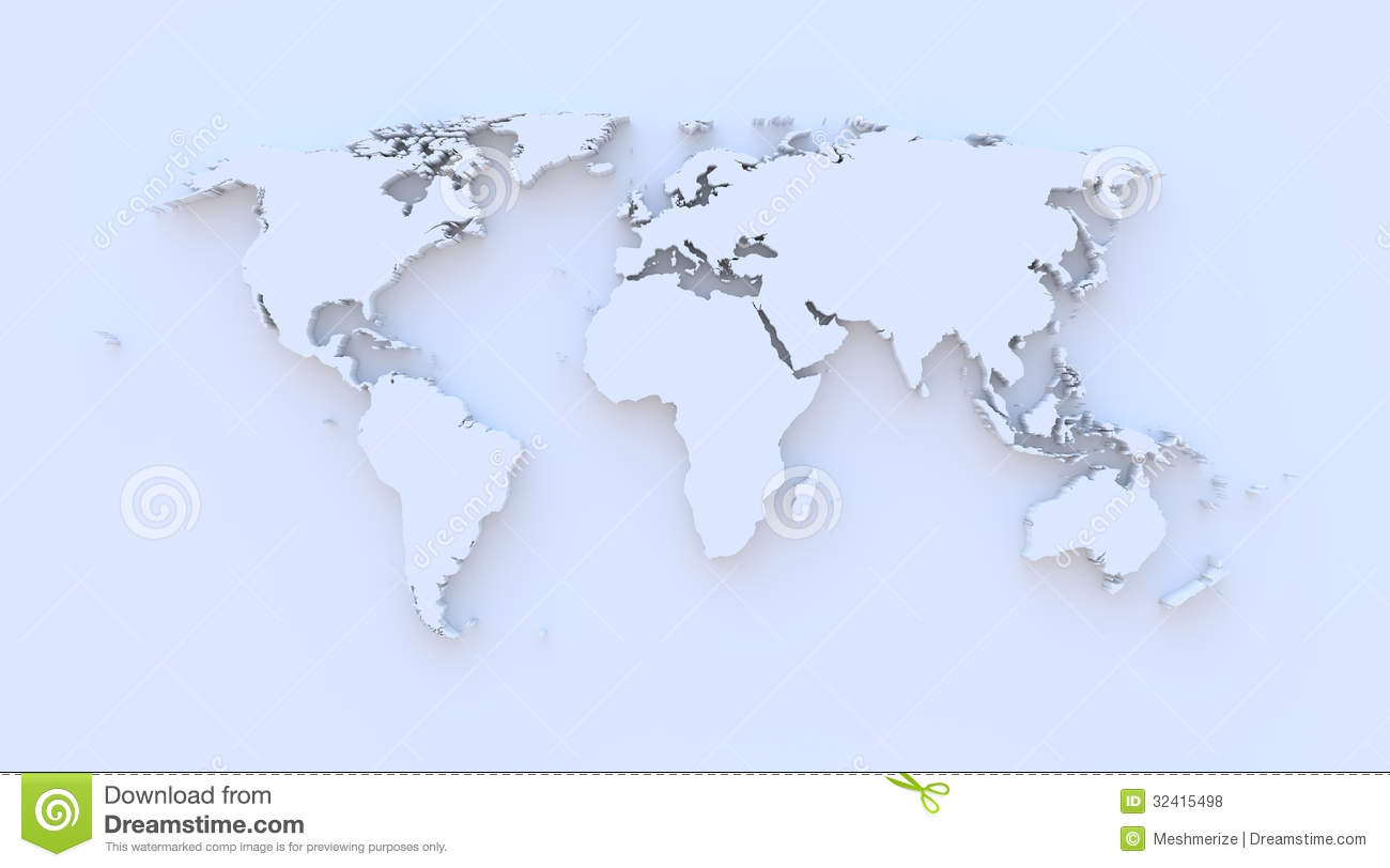 World map blue 3d stock illustration illustration of asia 32415498 world map blue 3d gumiabroncs Choice Image