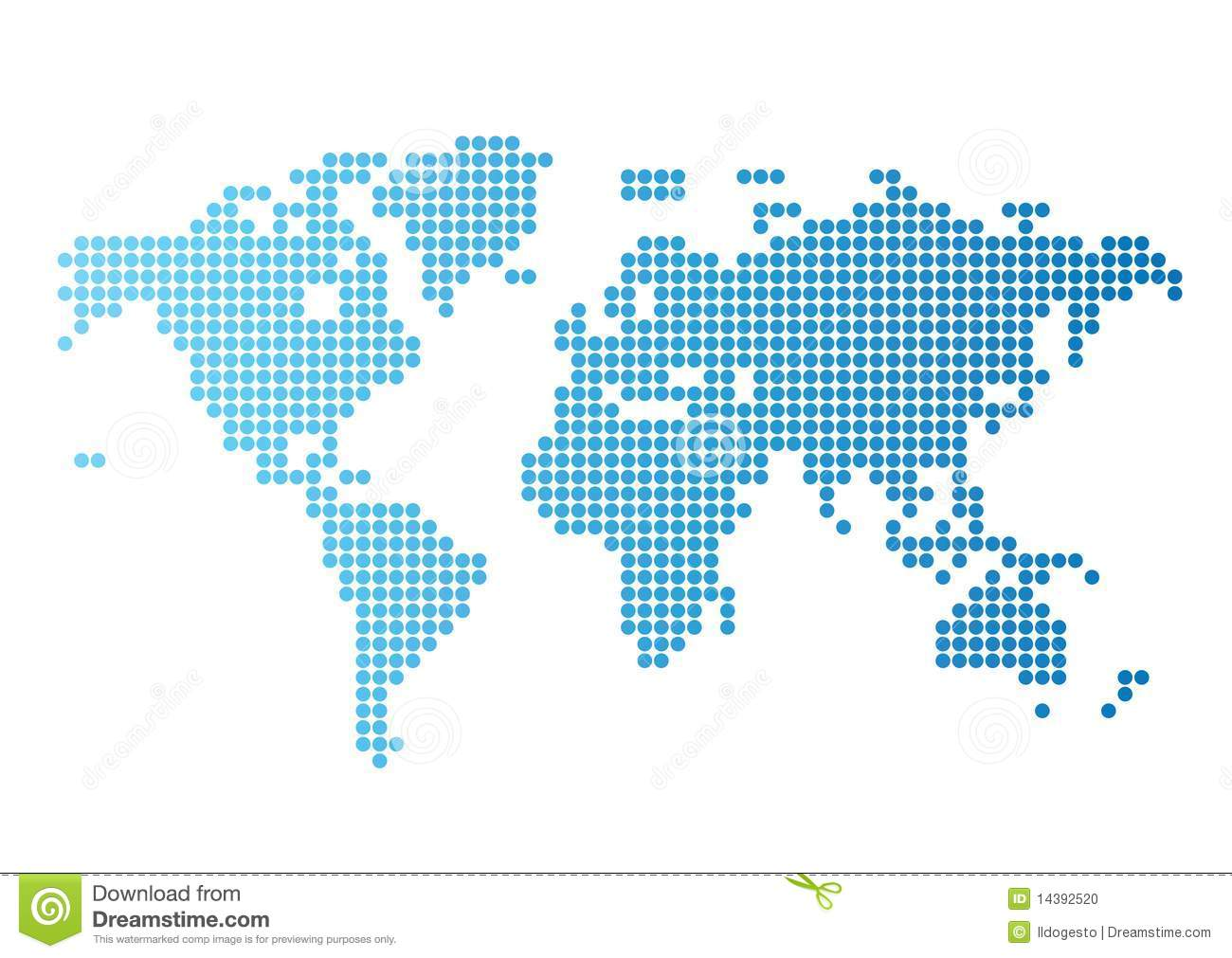 World map of blue round dots stock vector illustration of abstract world map of blue round dots gumiabroncs Image collections
