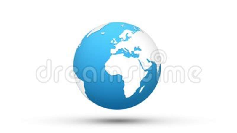 World map blue white globe loop animation stock footage video of world map blue white globe loop animation stock footage video of land shape 100564238 gumiabroncs Gallery