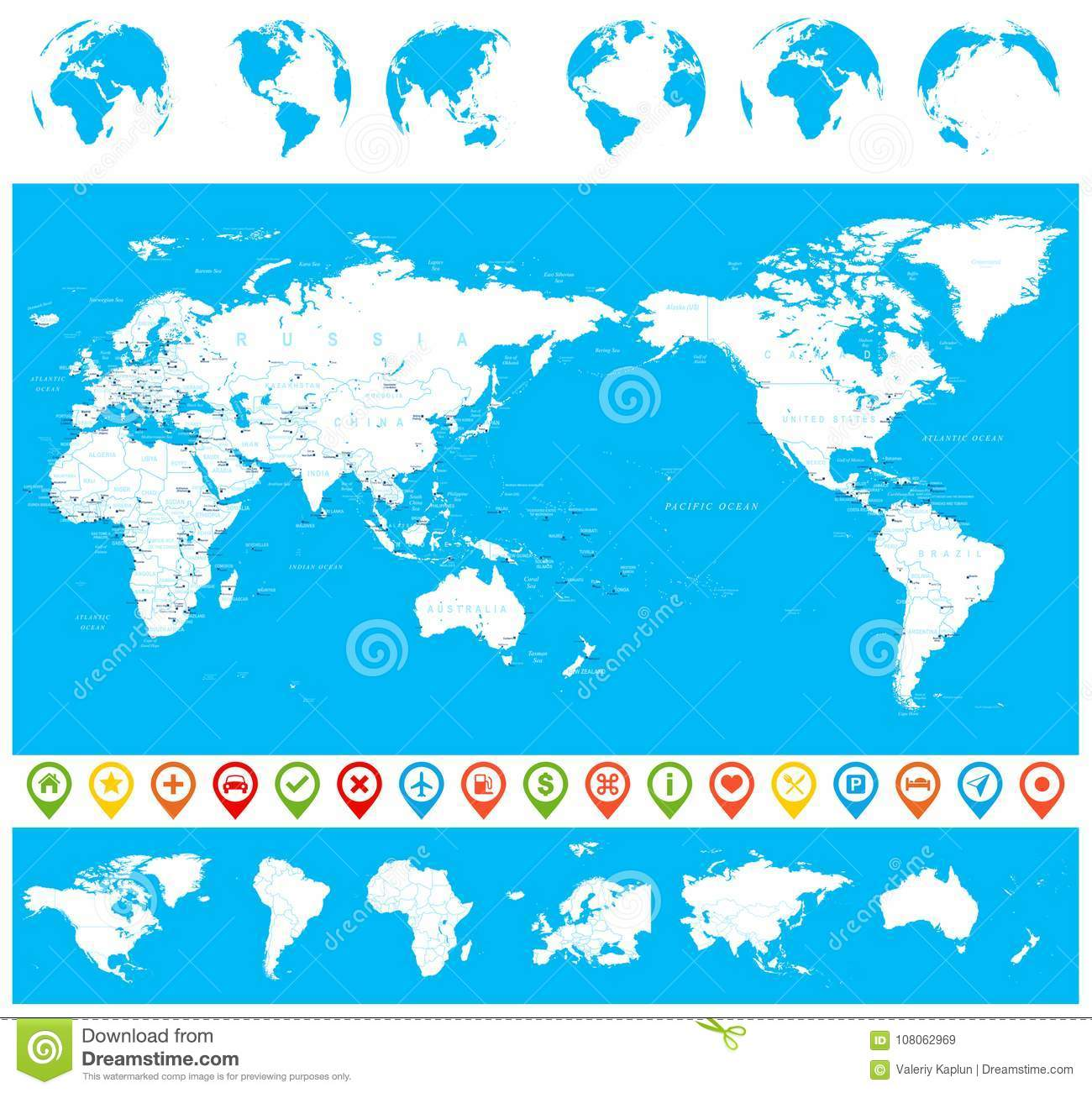 World Map Blue White And Globes - Asia In Center Stock ... on t and o map, maps and tools, raised-relief map, maps and tables, topographic map, maps and directions, maps and travel, maps and compasses, maps and diagrams, maps and books, maps and models, maps and food, maps and scales, maps and water, maps and telescopes, maps and pins, maps and atlases, maps and flags, maps and graphs, maps and charts, world map, maps and calendars, maps and prints, maps and gps,
