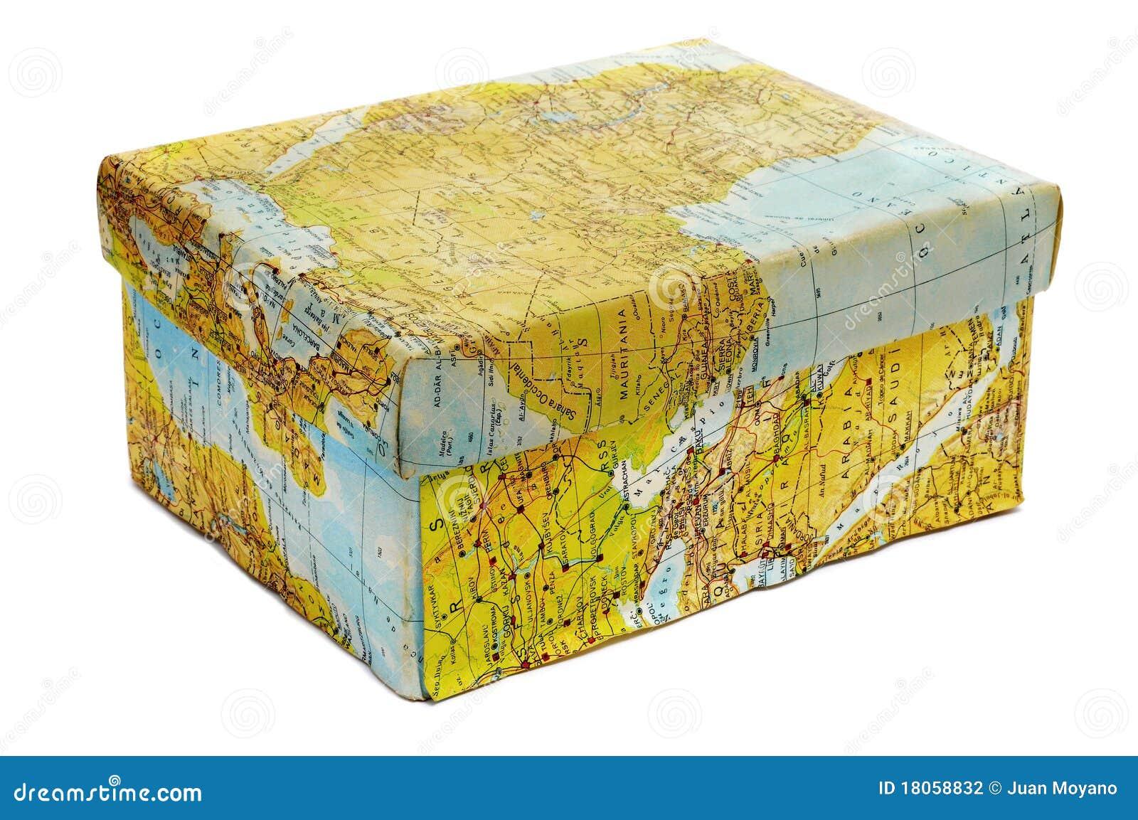 World map box stock photo. Image of white, journey, travel   18058832