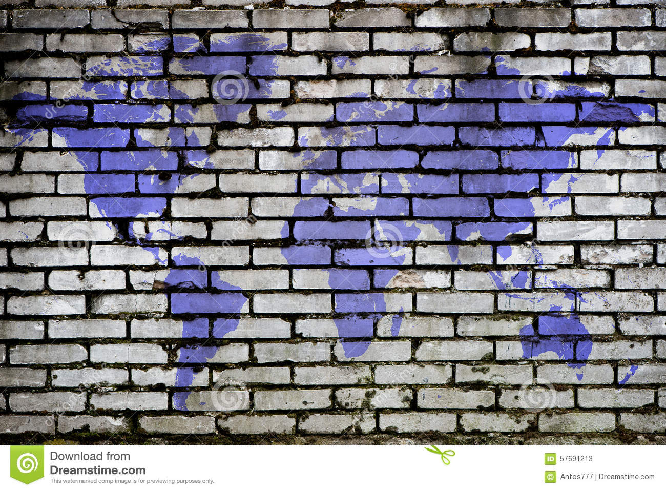 World map brick pattern stock photos royalty free images gumiabroncs Gallery