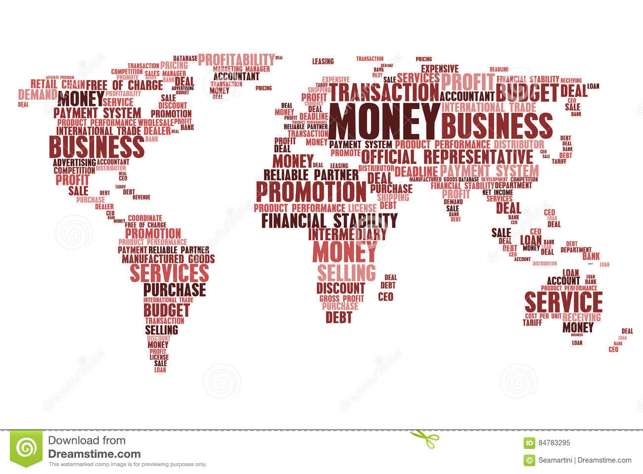 World Map Of Business Word Cloud Tags Stock Vector ...