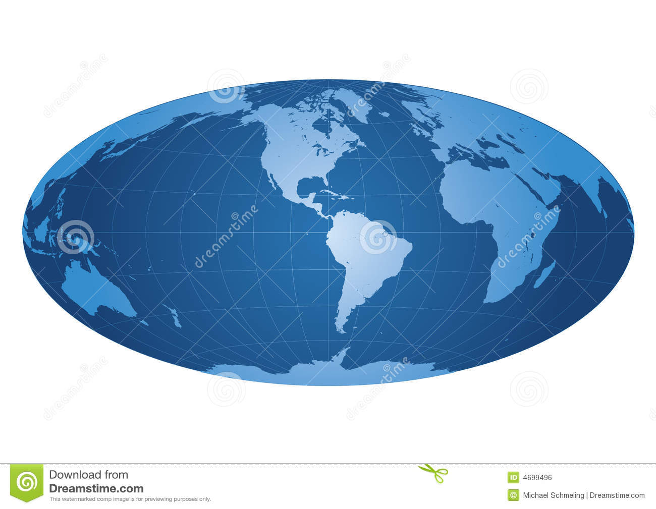 World map centered on america stock vector illustration of world map centered on america gumiabroncs Image collections