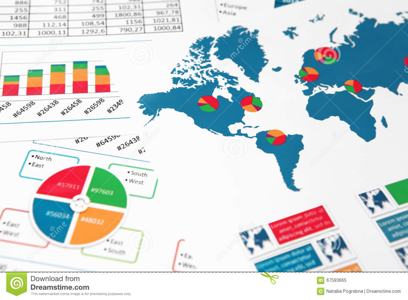 World map with charts graphs and diagrams stock image image of download comp gumiabroncs Gallery