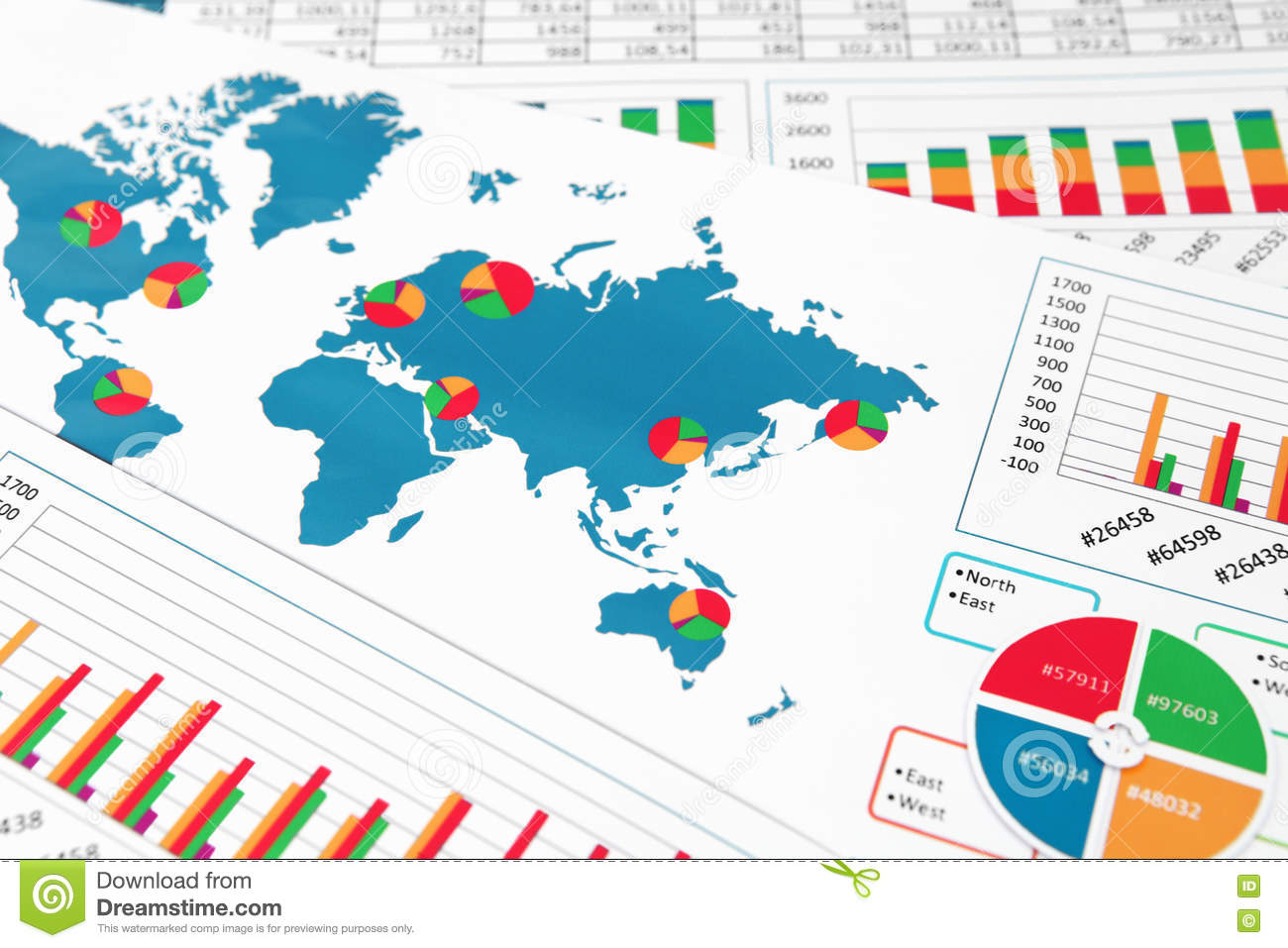 World map with charts graphs and diagrams stock photo image of download comp gumiabroncs Gallery