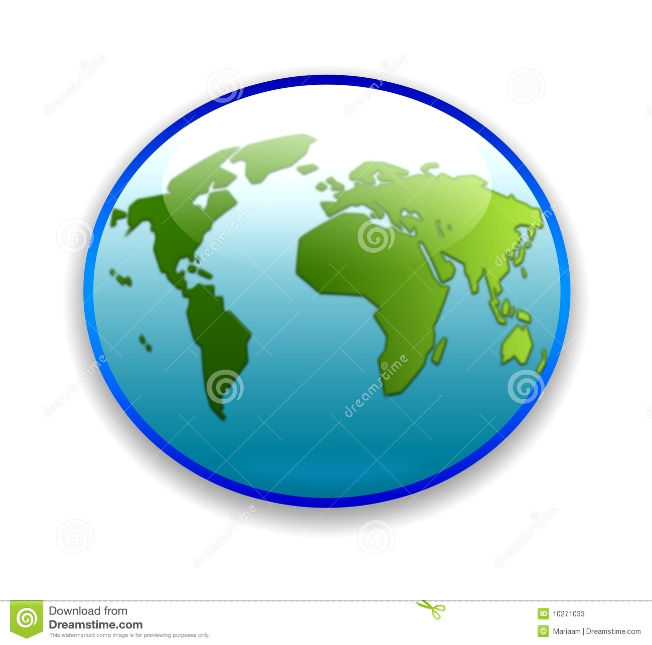 World Map On Circular Button Stock Illustration   Illustration of