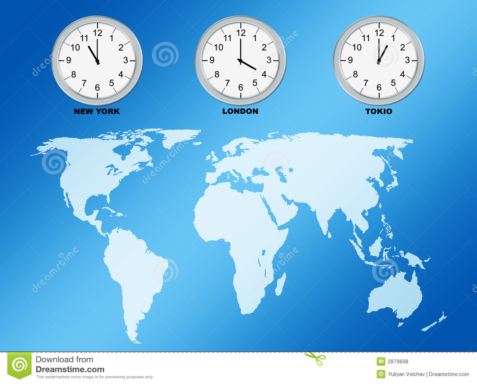 Clock World Map.World Map And Clocks Stock Illustration Illustration Of Earth 2879698
