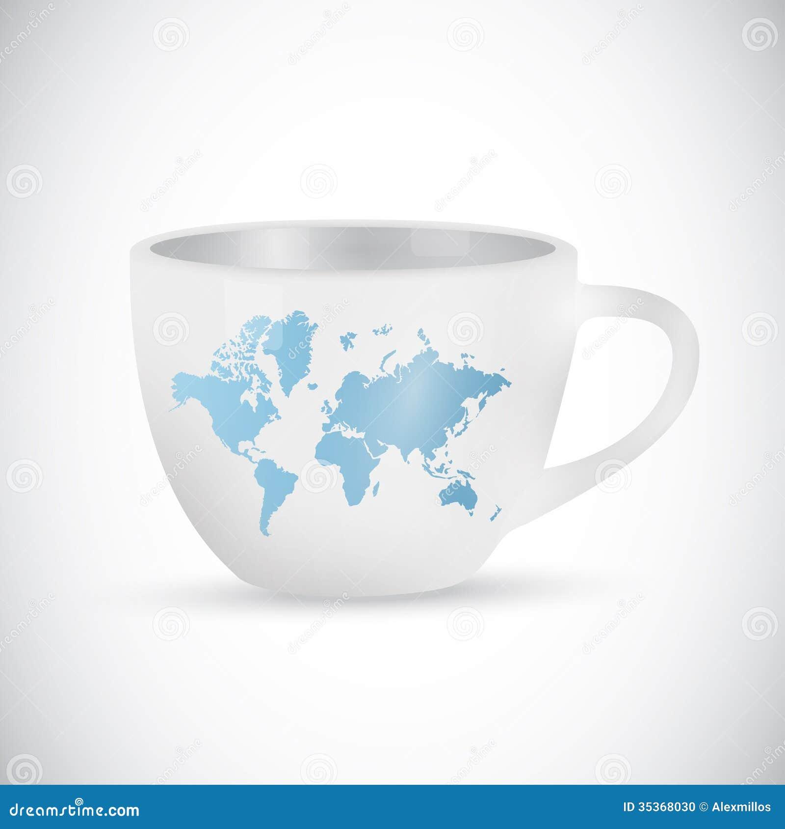 World map coffee mug illustration design stock illustration download world map coffee mug illustration design stock illustration illustration of food ceramic gumiabroncs Image collections