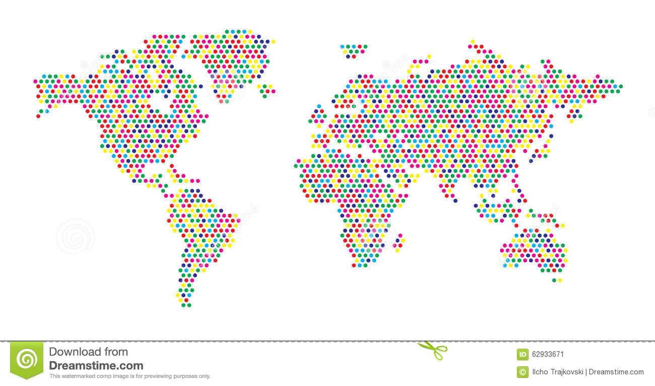 World map color dots stock vector illustration of gold 62933671 world map color dots royalty free vector download gumiabroncs Choice Image