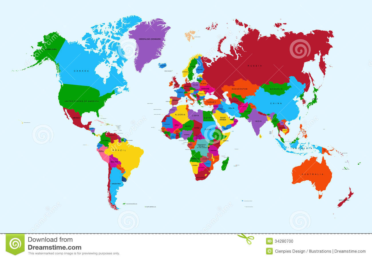 World map colorful countries atlas eps10 vector f stock vector download world map colorful countries atlas eps10 vector f stock vector illustration of earth gumiabroncs Image collections
