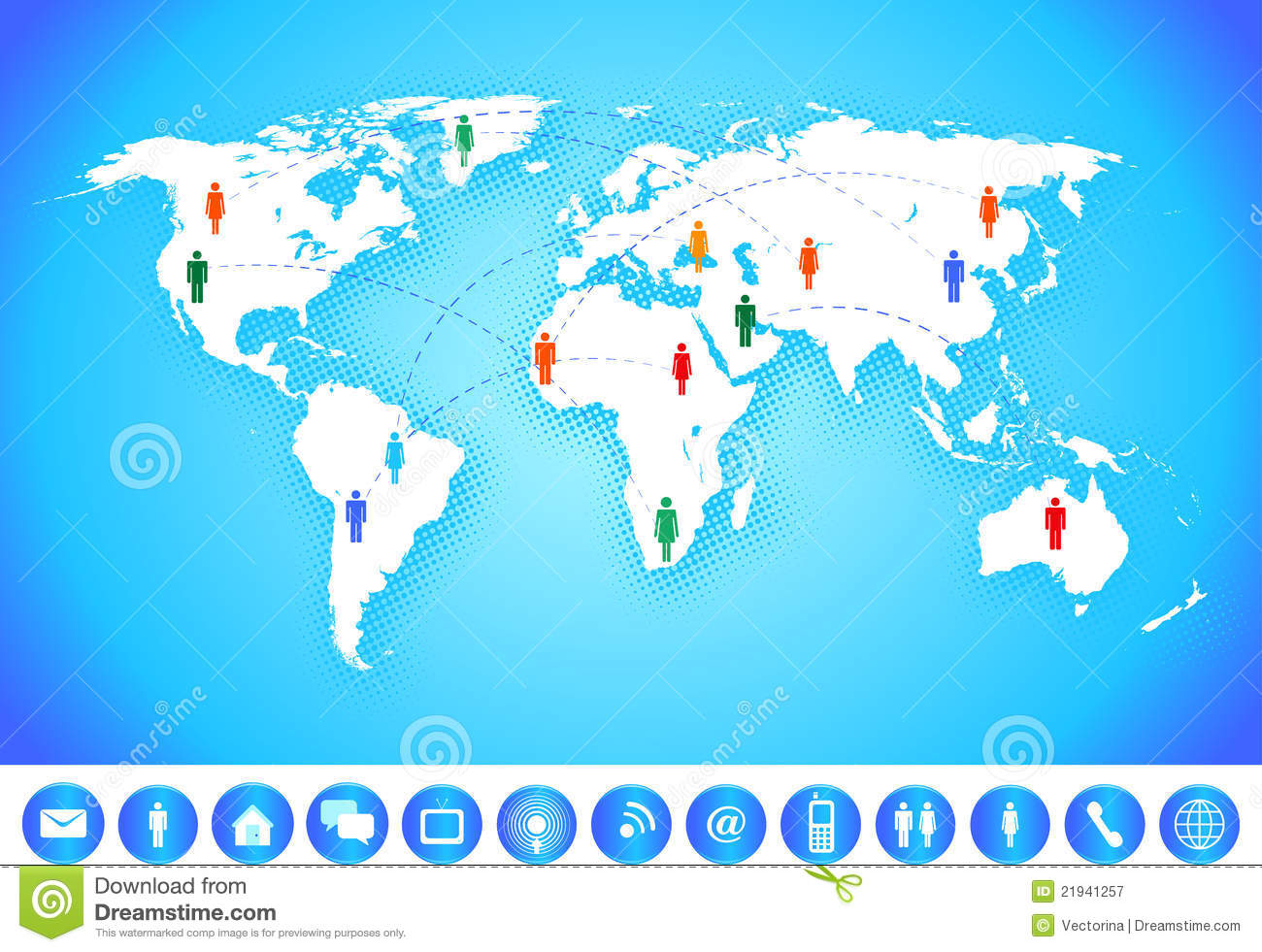 world map communication. world map communication stock vector illustration of