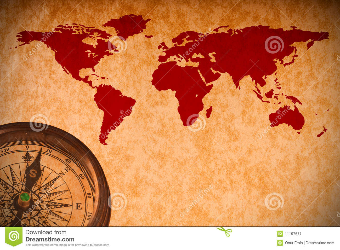 World map with compass on vintage paper stock image image of world map with compass on vintage paper gumiabroncs Images
