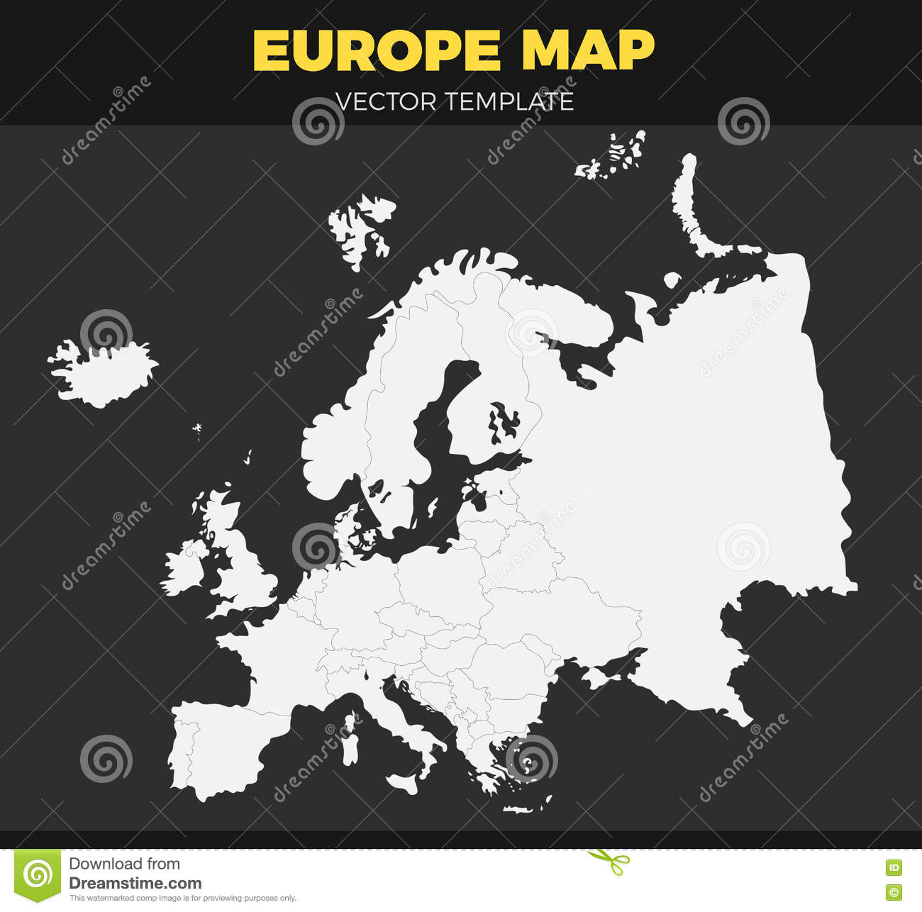 photograph about Map of Europe Black and White Printable With Names called World wide map contour inventory vector. Example of continent