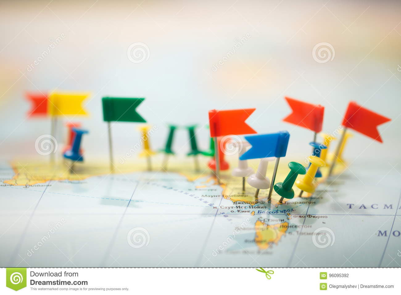 world map country flags marked pin city pinpoint stock photo image