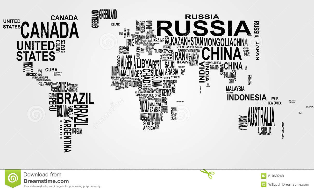 World map with country name stock vector illustration of english world map with country name gumiabroncs Image collections