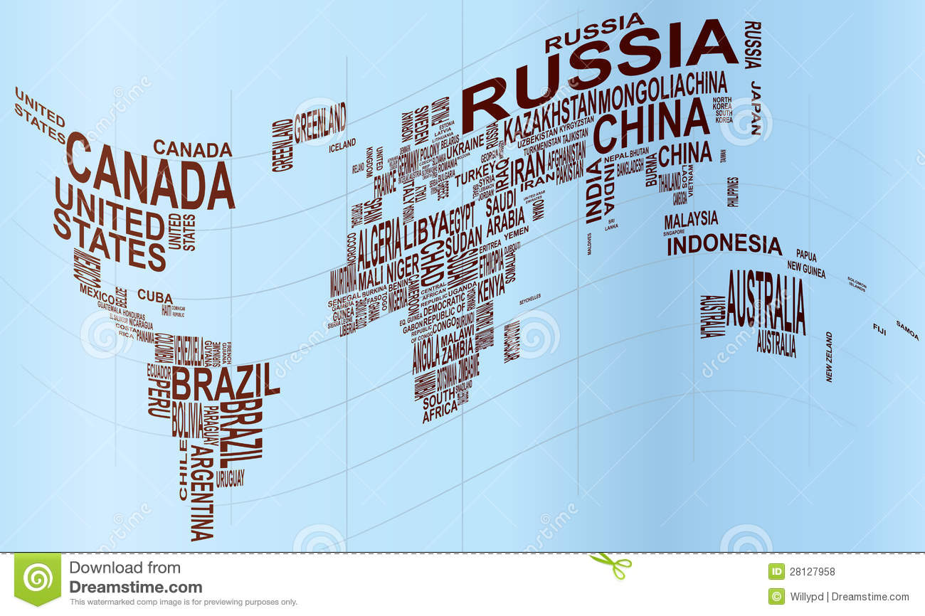 World Map With Country Name Royalty Free Stock Photos Image - World map with country names