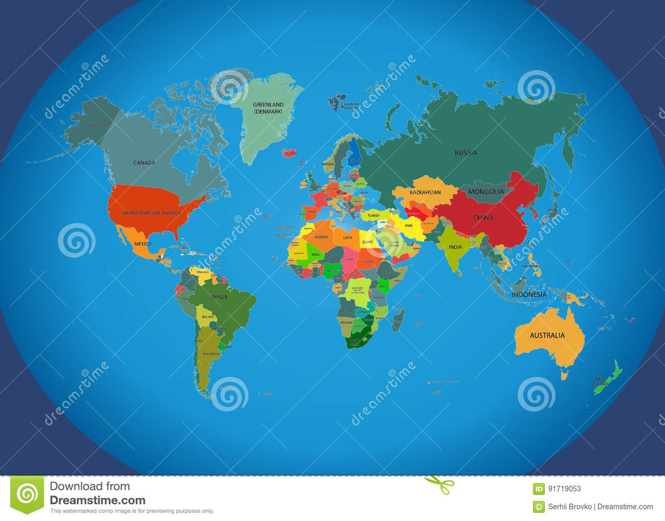 World map with country names stock vector illustration of download world map with country names stock vector illustration of illustration borders gumiabroncs Image collections