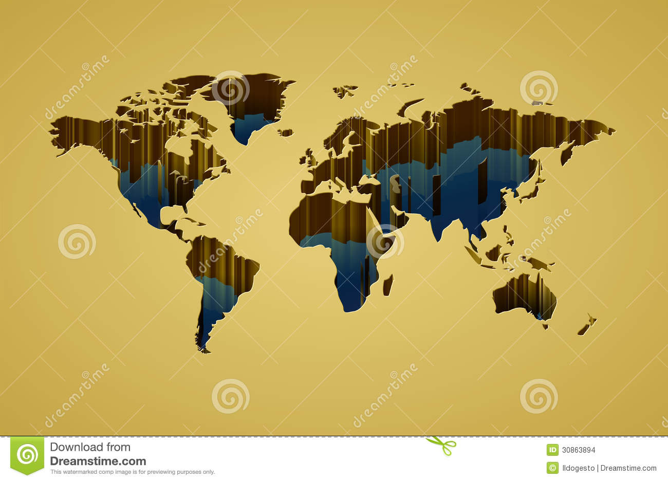 World map with 3d effect stock vector illustration of earth 30863894 royalty free stock photo gumiabroncs Choice Image
