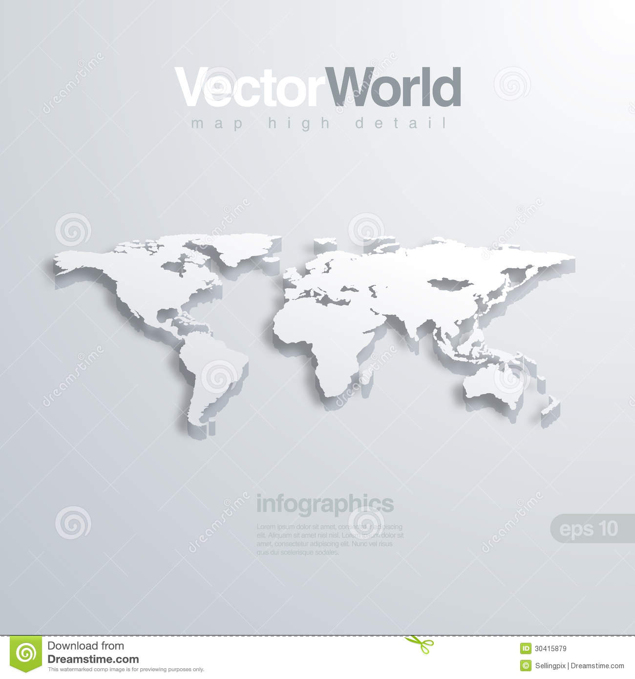 World map 3d vector illlustraion useful for infog stock vector world map 3d vector illlustraion useful for infog royalty free stock photo gumiabroncs Choice Image