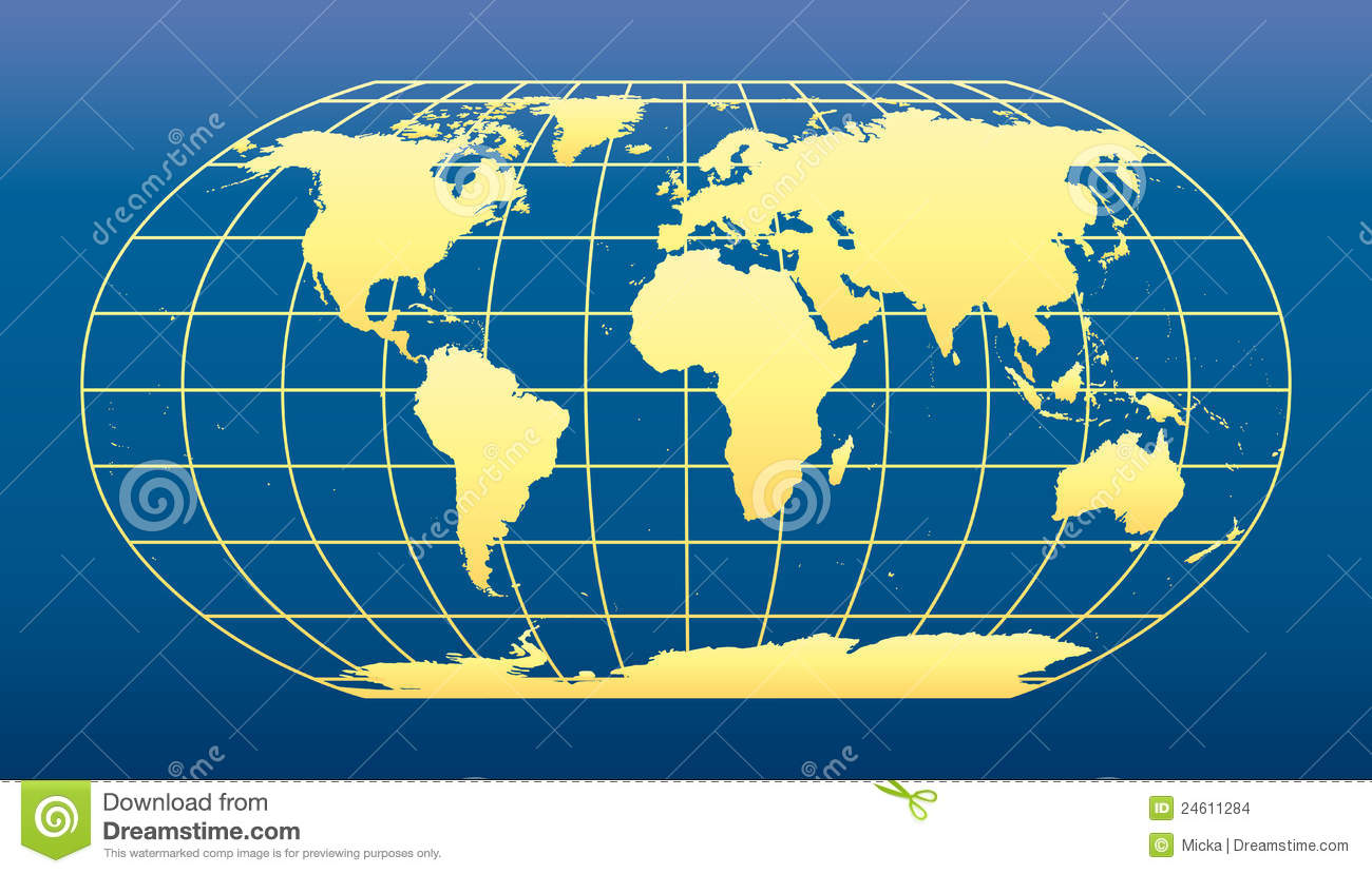 World map with coordinates stock vector. Illustration of china ...