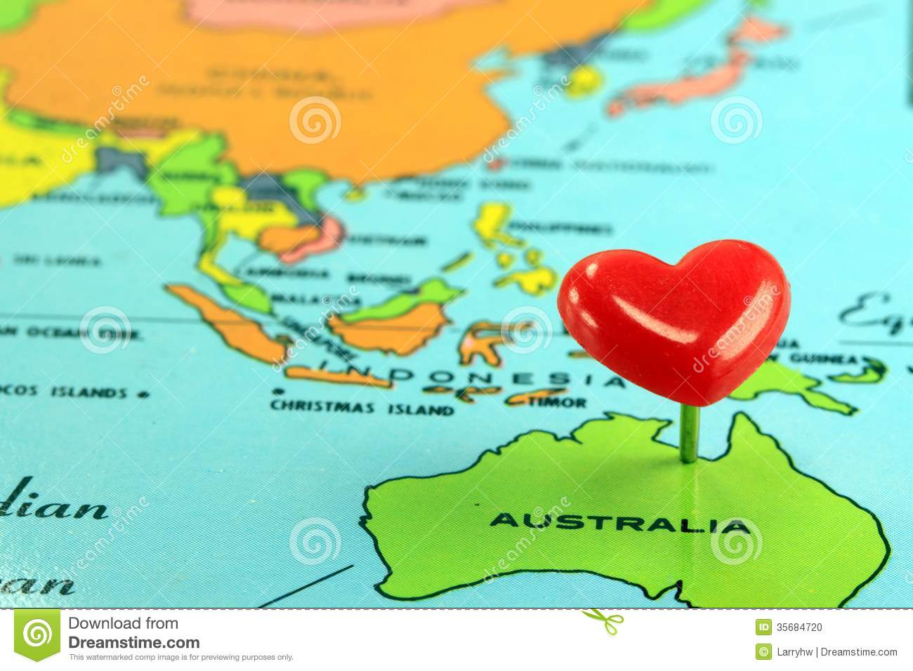 World Map With Destination Pin Australia Stock Photo Image - Australian world map