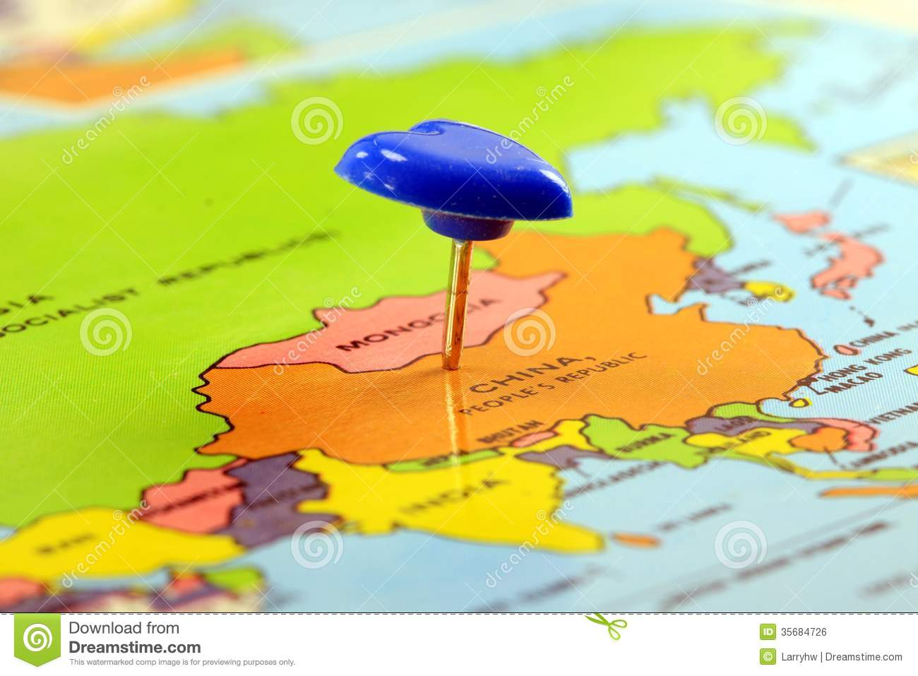World map with destination pin china stock photo image of tourism world map with destination pin china gumiabroncs Images
