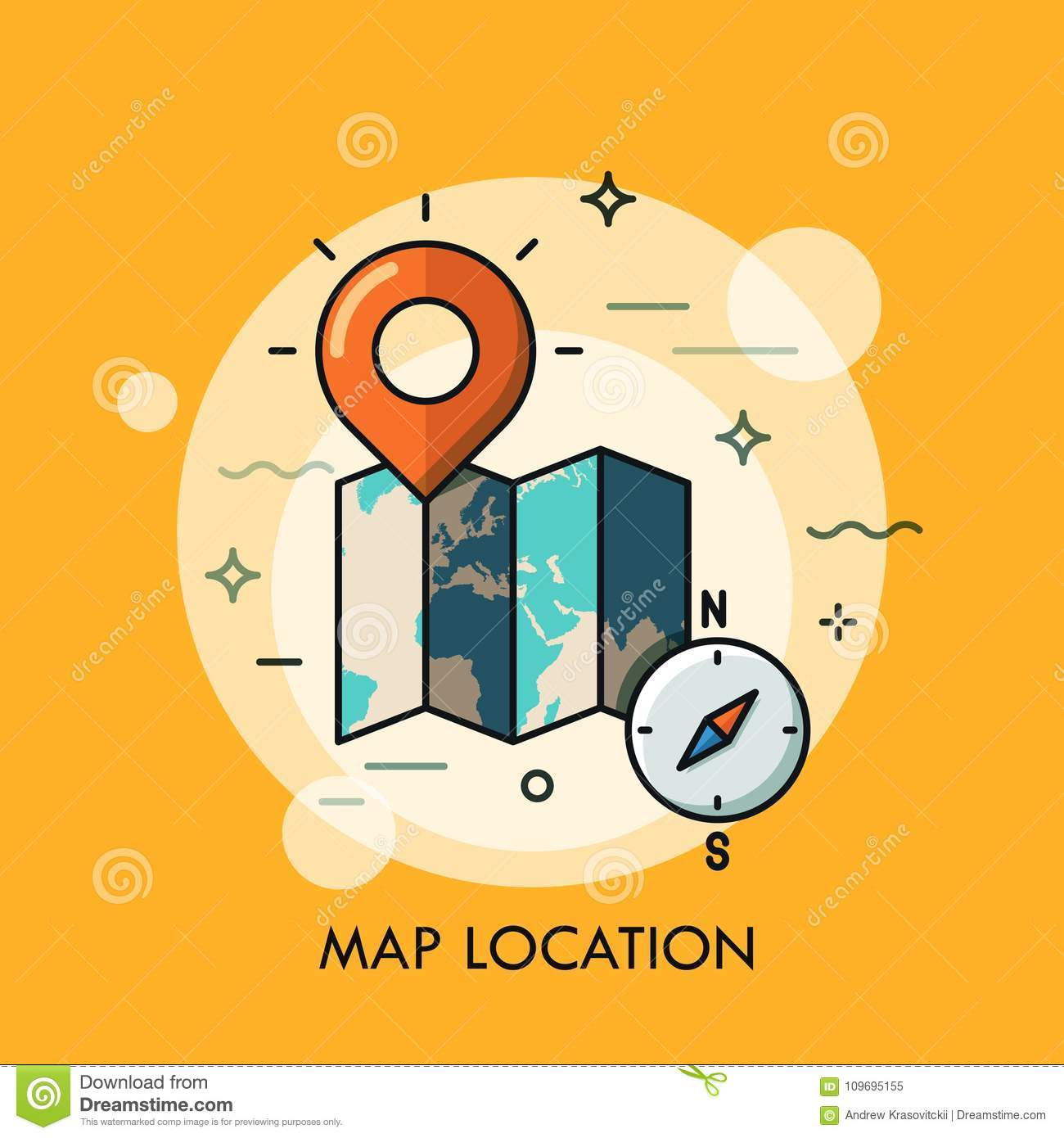World map destination point pin and compass stock vector world map destination point pin and compass gumiabroncs Choice Image