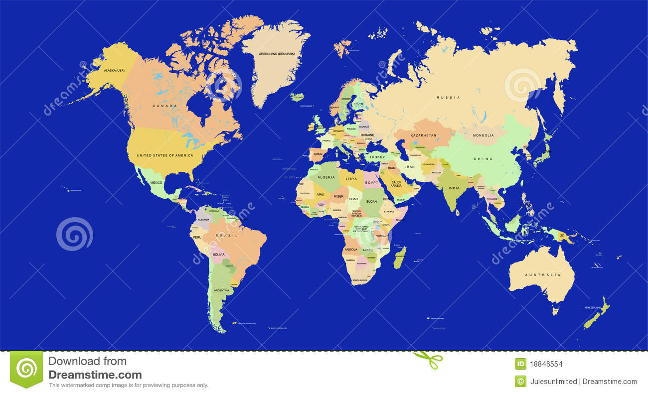 World Map In Detail Vector Images Image 18846554 – Map of the World in Detail
