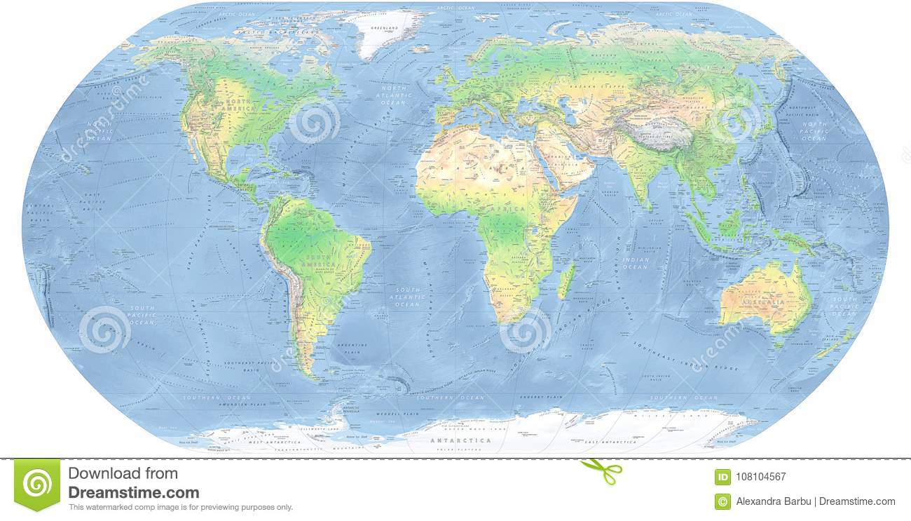 World map detailed physical map stock illustration illustration of world map detailed physical map royalty free illustration download gumiabroncs Choice Image